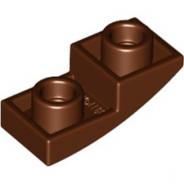 LEGO 6172922 DOME INV. 1X2X2/3 - REDDISH BROWN