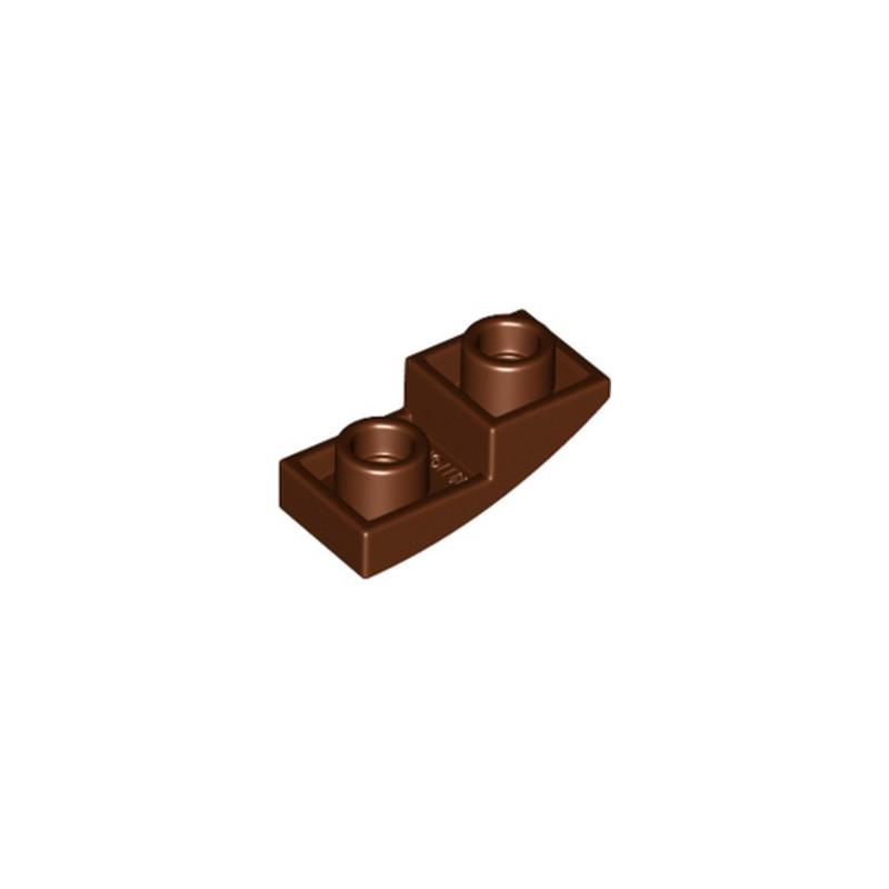 LEGO 6172922 DOME INV. 1X2X2/3 - REDDISH BROWN