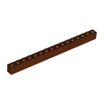 LEGO 6258989 BRIQUE 1X16 - REDDISH BROWN
