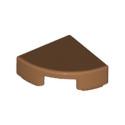 LEGO 6248536 PLATE LISSE 1/4 ROND 1X1 - MEDIUM NOUGAT