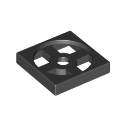 LEGO 368026 TURN TABLE 2X2 - NOIR