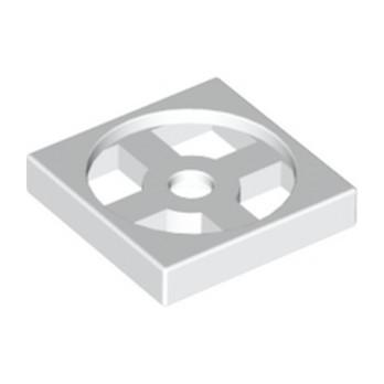 LEGO 368001 TURN TABLE 2X2 - BLANC lego-368001-turn-table-2x2-blanc ici :