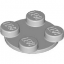 LEGO 4540203 TURN PLATE 2X2, UPPER PART  -  MEDIUM STONE GREY
