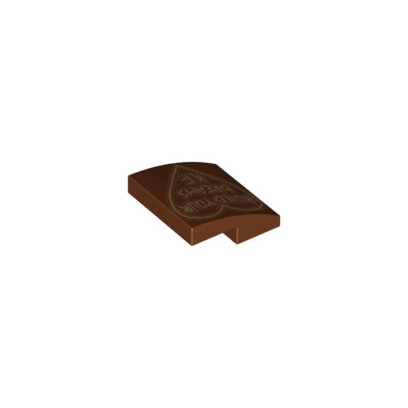 LEGO 6283550 IMPRIME DOME 2X2X2/3 - REDDISH BROWN