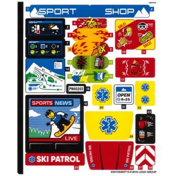 Stickers / Autocollant Lego City 60203