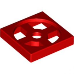 LEGO 368021 TURN TABLE 2X2 - ROUGE