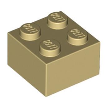LEGO 300305 BRIQUE 2X2 - BEIGE lego-4114306-brique-2x2-beige ici :