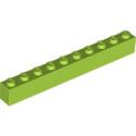 LEGO 6252809 BRIQUE 1X10 - BRIGHT YELLOWISH GREEN