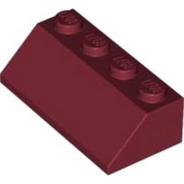 LEGO 4541380 TUILE 2X4/45° - NEW DARK RED