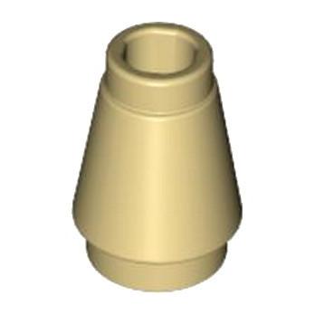 LEGO 4520958 CONE 1X1 - BEIGE lego-4529237-cone-1x1-beige ici :