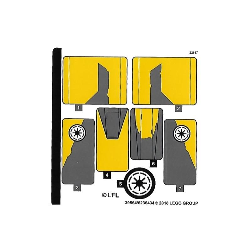 Stickers / Autocollant Lego Star wars 75214