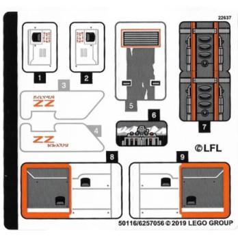 Stickers / Autocollant Lego Star wars 75259