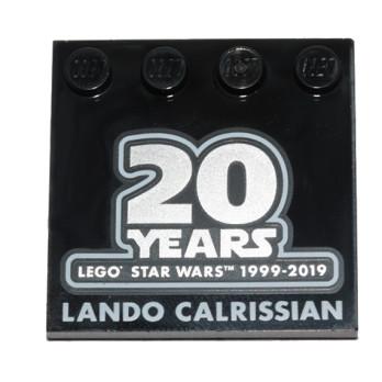 LEGO 6261487 PLAQUE IMPRIME 20 ANS STAR WARS - LANDO CALRISSIAN