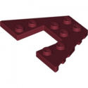 LEGO 6275502 PLATE 6X4 W/ANGLE - NEW DARK RED