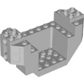 LEGO 6253093 PLANE BOTTOM 4X12X4, W/ 4.85 HOLE  - MEDIUM STONE GREY