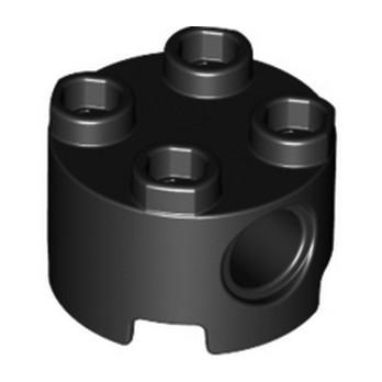 LEGO 6195273 BRIQUE RONDE TECHNIC 2x2 - NOIR
