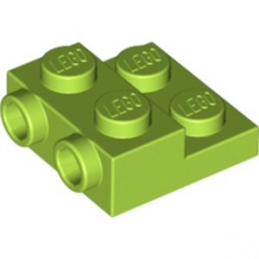 LEGO 6264064 PLATE 2X2X2/3 W. 2. HOR. KNOB - BRIGHT YELLOWISH GREEN