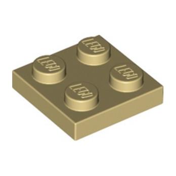 LEGO 302205  PLATE 2X2 - BEIGE