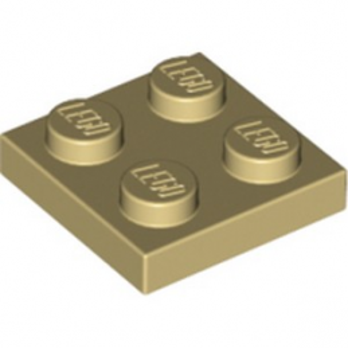 LEGO 4114084 PLATE 2X2 - TAN