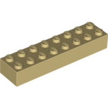 LEGO 300705 BRIQUE 2X8 - BEIGE
