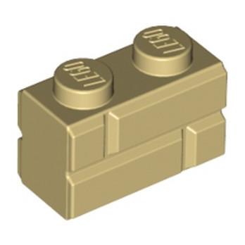 LEGO 6148262 BRIQUE 1X2 - BEIGE