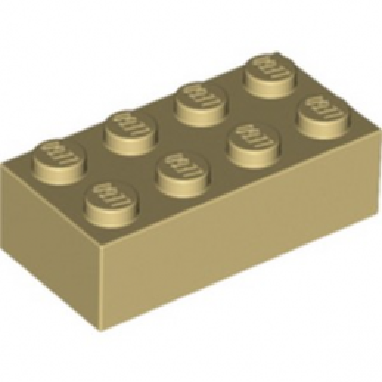 LEGO 300105 BRIQUE 2X4 - BEIGE