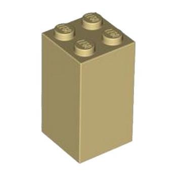 LEGO 4125265 BRIQUE 2X2X3 - BEIGE lego-6100085-brique-2x2x3-beige ici :