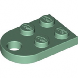 LEGO 6278542 COUPLING PLATE 2X2  - SAND GREEN