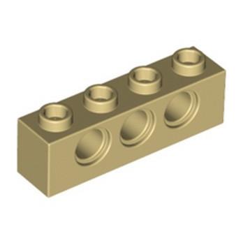 LEGO 370105 TECHNIC BRICK 1X4, Ø4,9 - BEIGE