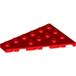LEGO 6258212 PLATE 4X6 GAUCHE - ROUGE