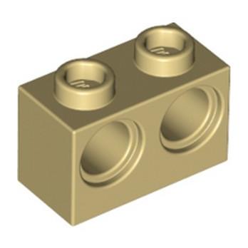 LEGO 4101763 BRIQUE 1X2 M. 2 HOLES Ø 4,87 - BEIGE