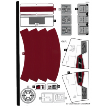 Stickers / Autocollant Lego Star wars 75244