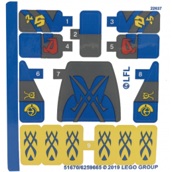 Stickers / Autocollant Lego Star wars 75258