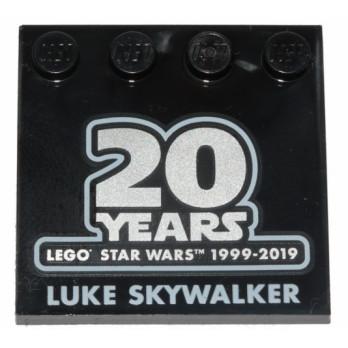 LEGO 6259500 PLAQUE IMPRIME 20 ANS STAR WARS - LUKE SKYWALKER