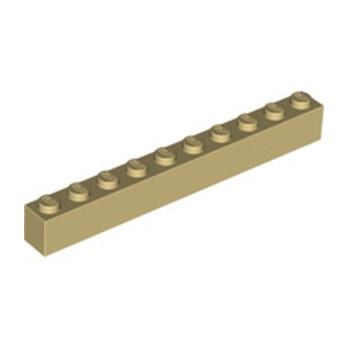 LEGO 611105 BRIQUE 1X10 - BEIGE