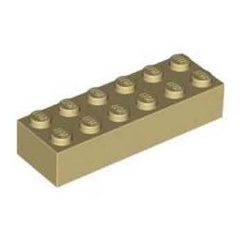 LEGO 245605 BRIQUE 2X6 - BEIGE lego-4181134-brique-2x6-beige ici :