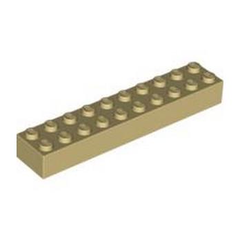 LEGO 300605 BRIQUE 2X10 - BEIGE