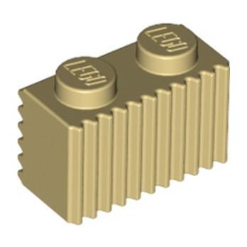 LEGO 287705 BRIQUE 1X2 - BEIGE lego-4655900-brique-1x2-beige ici :