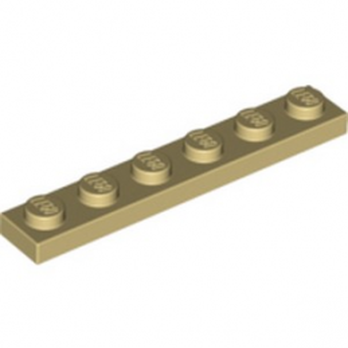 LEGO 366605 PLATE 1X6 - BEIGE lego-4124067-plate-1x6-beige ici :