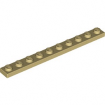 LEGO 447705 PLATE 1X10 - BEIGE lego-4143409-plate-1x10-beige ici :