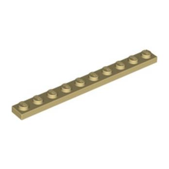 LEGO 4143409 PLATE 1X10 - TAN