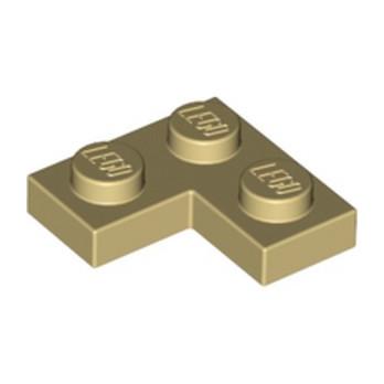 LEGO 242005 PLATE ANGLE 1X2X2 - BEIGE lego-4114077-plate-angle-1x2x2-beige ici :