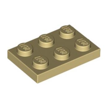 LEGO 302105 PLATE 2X3 - BEIGE lego-4118790-plate-2x3-beige ici :