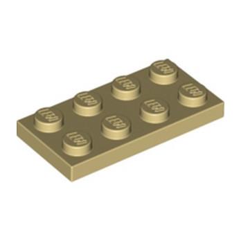 LEGO 302005 PLATE 2X4 - BEIGE lego-4114309-plate-2x4-beige ici :