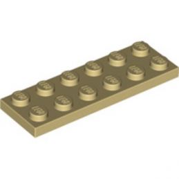 LEGO 379505  PLATE 2X6 - BEIGE lego-4113993-plate-2x6-beige ici :
