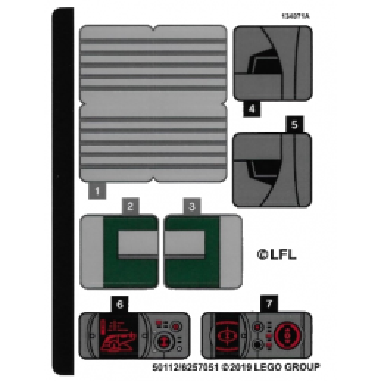 Stickers / Autocollant Lego Star wars 75243