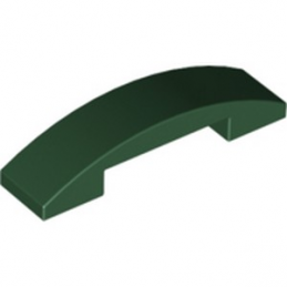 LEGO  6252623 PLATE W. BOW 1X4X2-3  - EARTH GREEN