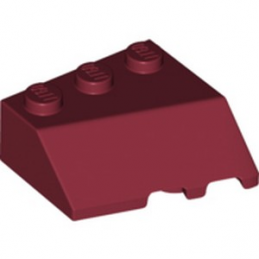 LEGO 6257448 LEFT ROOF TILE 3X3, DEG. 45/18/45  - NEW DARK RED lego-6257448-left-roof-tile-3x3-deg-451845-new-dark-red ici :