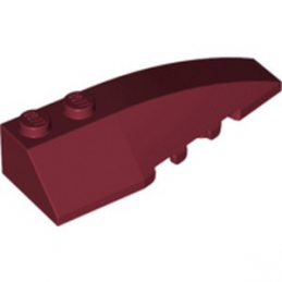 LEGO 6251602 RIGHT SHELL 2X6 W/BOW/ANGLE - NEW DARK RED