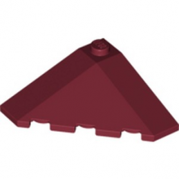 LEGO 6080444 TUILE D'ANGLE 4X4 - NEW DARK RED